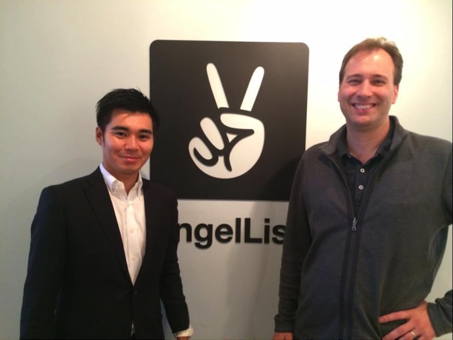 アマテラスCEO藤岡清高氏とAngelList COO Kevin 氏です。(AngelListのサンフランシスコのオフィスにて)